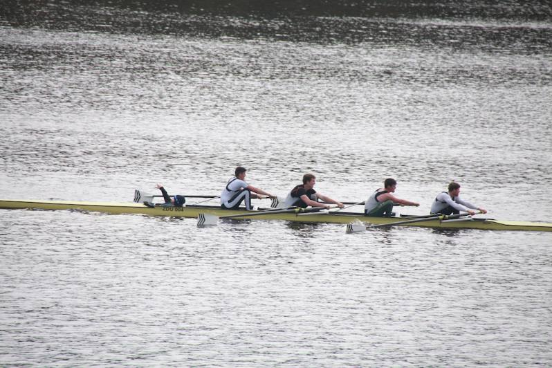 The winning Intermediate 4+ - (Bow) Mark Lavelle, Patrick Moreau, Brian McHenry, (Stk.) David Butler, Cox: Aine McConville