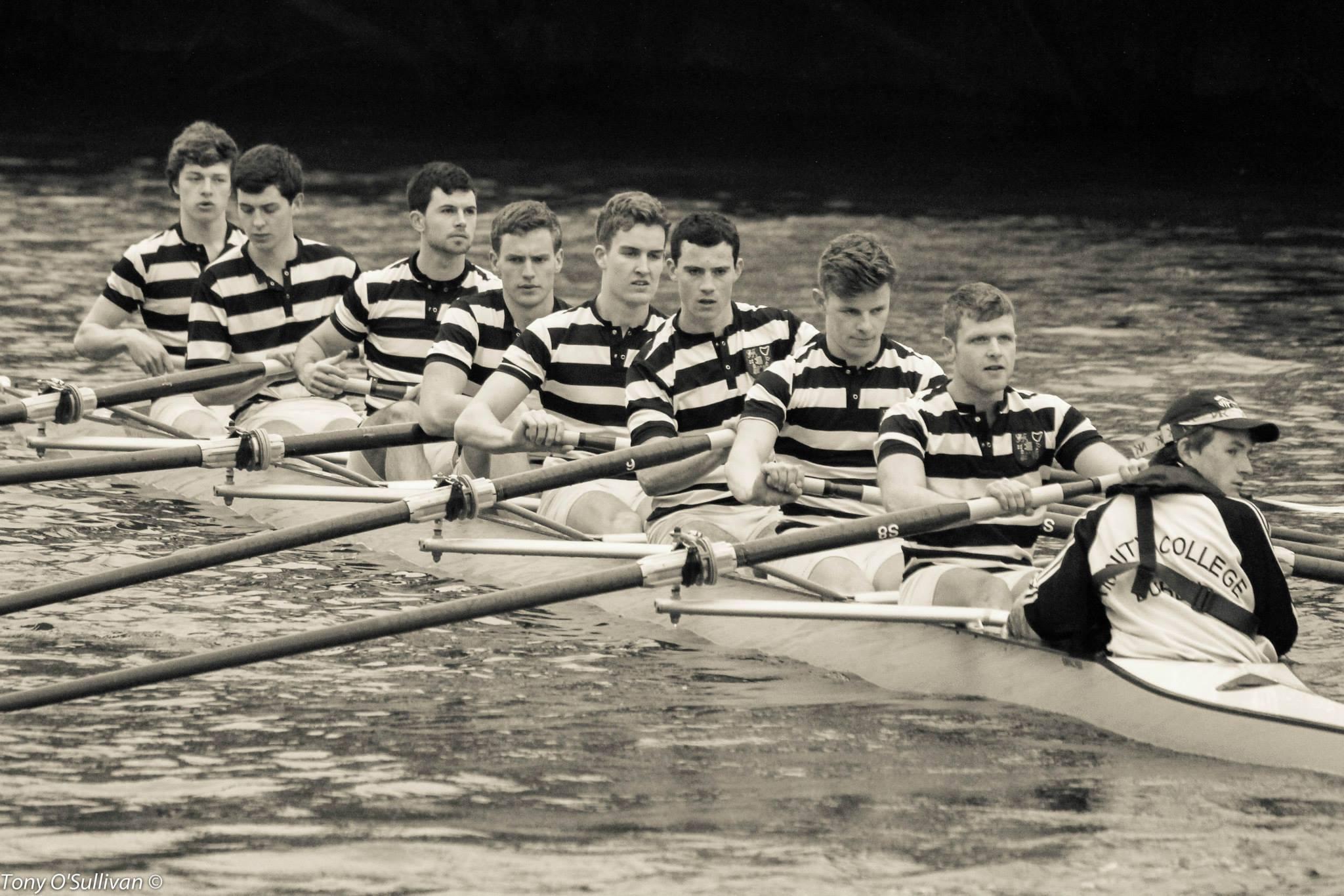 Ready to make history- the Gannon VIII- Bow: A. Browne, W. Doyle, J. Magan, M. Corcoran, P. Moreau, M. Kelly, L. Hawkes, Stk: D. Butler, Cox: C. Flynn